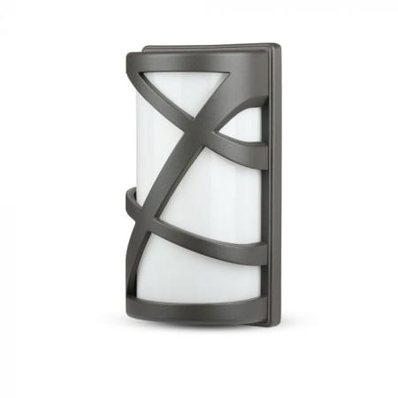 Sivá nástenná lampa na E27 žiarovku IP54