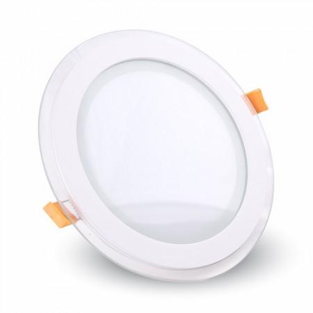 Sklenený okrúhly zapustený LED panel 6W