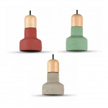 Betónová závesná lampa (3 farby)