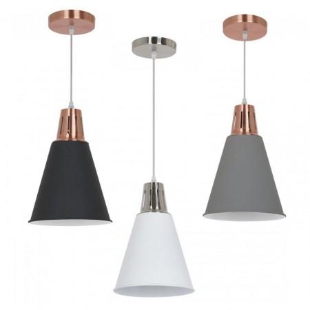 Hliníková závesná lampa kužeľ (3 farby)