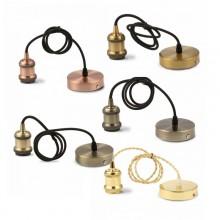 Závesná lampa kovová (5 farieb)