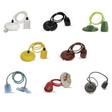 Porcelánová závesná lampa (8 farieb)