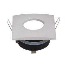 Vodeodolný hranatý biely rámik na GU10 žiarovky
