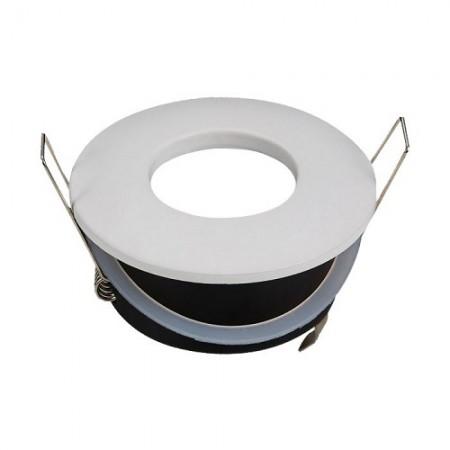 Vodeodolný okrúhly biely rámik na GU10 žiarovky