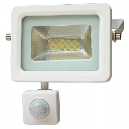 Biely LED reflektor 10W s pohybovým senzorom