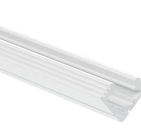 Biely rohový hliníkový profil 45 ALU 2m