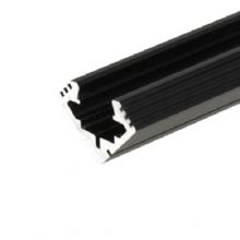 Čierny rohový hliníkový profil 45 ALU 2m