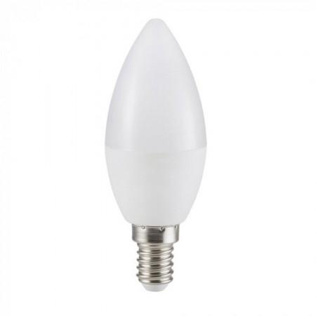Profesionálna mliečna LED sviečka E14 5,5W so SAMSUNG čipmi