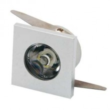 Zapustené hranaté orientačné mini LED svietidlo 1W