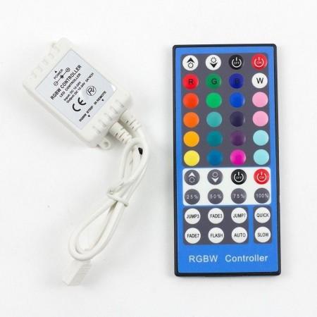 LED diaľkový IR ovládač RGB+W 144W