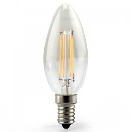 Profesionálna LED filament sviečka E14 4W so SAMSUNG čipmi