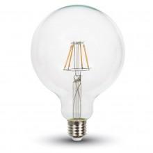 Profesionálna LED filament žiarovka E27 G125 6W so SAMSUNG čipmi