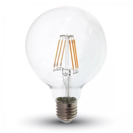 Profesionálna LED filament žiarovka E27 G95 6W so SAMSUNG čipmi