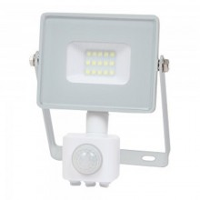 Profesionálny biely LED reflektor 10W s pohybovým senzorom so SAMSUNG čipmi