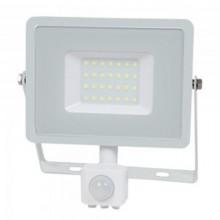 Profesionálny biely LED reflektor 30W s pohybovým senzorom so SAMSUNG čipmi