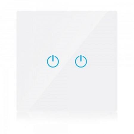 Dvojitý biely smart Wi-Fi dotykový vypínač