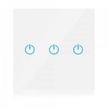 Trojitý biely smart Wi-Fi dotykový vypínač