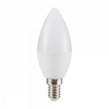 Mliečna LED sviečka E14 4W