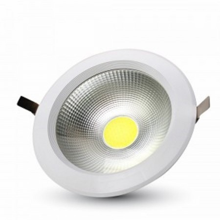 Zapustené okrúhle biele LED svietidlo 10W