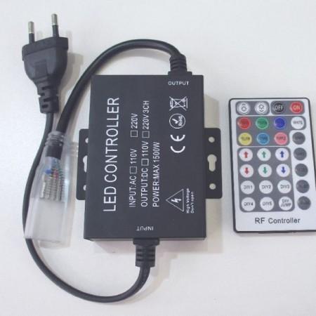 Napájací kábel k neon flex RGB LED pásu 230v 2m s ovládačom
