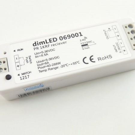 Prijímač k RF stmievaču pre LED pás
