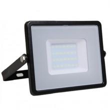 Profesionálny čierny LED reflektor 50W s vysokou svietivosťou (120lm/W) so SAMSUNG čipmi