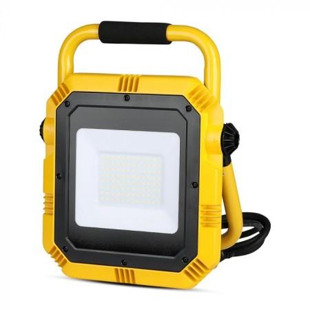 Profesionálny prenosný LED reflektor 50W so stojanom so SAMSUNG čipmi