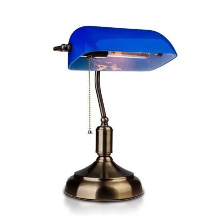 Modrá stolná lampa banker