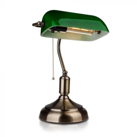 Zelená stolná lampa banker