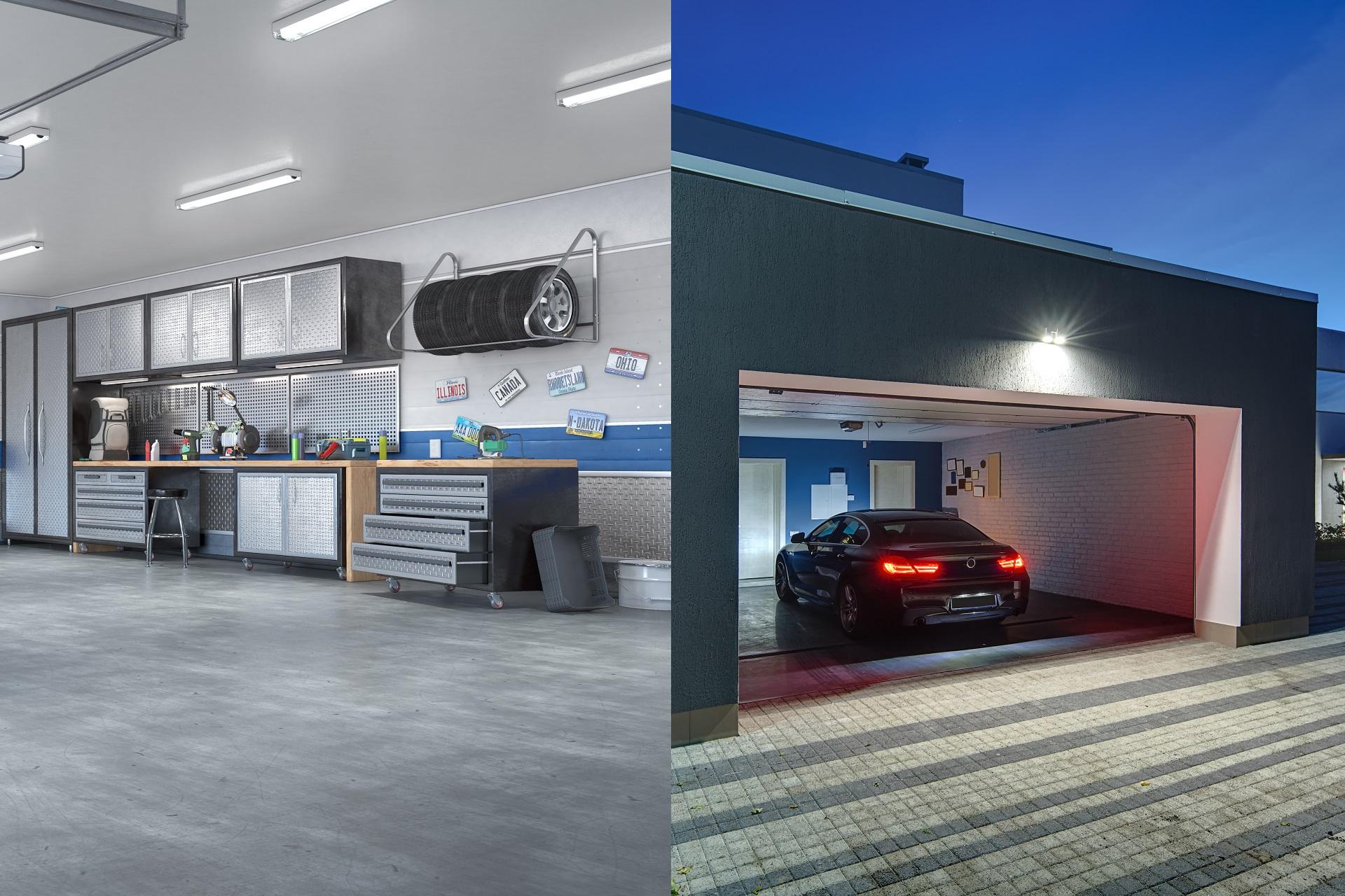 Osvetlenie garáže a dielne