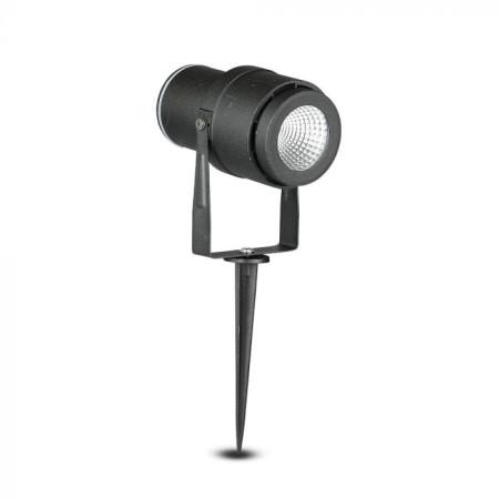 Zapichovacia čierna záhradná LED lampa 12W