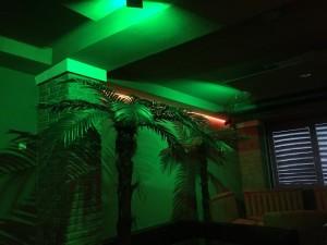 Osvetlenie reštaurácie RGB LED reflektormi