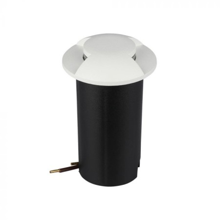 2-smerné biele LED svietidlo do podlahy 1W 12V