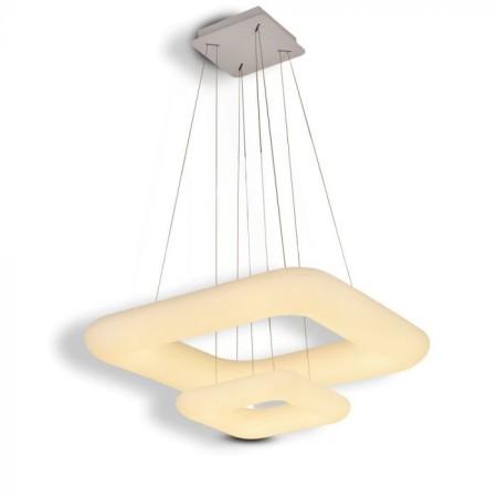 Dvojitý stmievateľný LED luster 68W štvorec