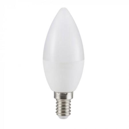 Mliečna LED sviečka E14 C37 5,5W CRI95