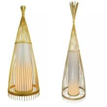 Ratanová stojaca lampa na E27 žiarovku (2 veľkosti)
