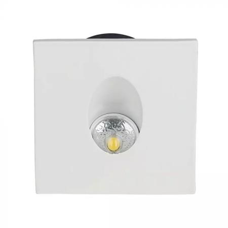 Biele hranaté LED svietidlo na schody do krabice 3W