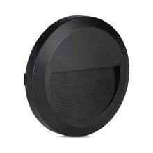 Čierne okrúhle LED svietidlo na schody 2W IP65