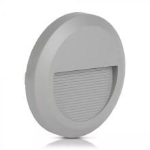 Sivé okrúhle LED svietidlo na schody 2W IP65