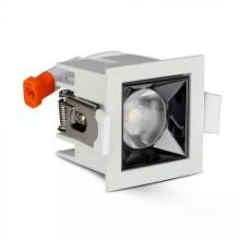 Zapustené hranaté biele LED svietidlo 10W 12° SAMSUNG čipy CRI90