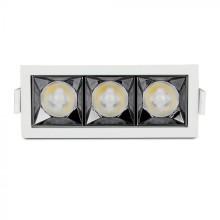 Zapustené hranaté biele LED svietidlo 12W 38° SAMSUNG čipy CRI90