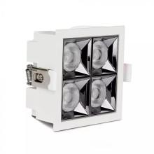 Zapustené hranaté biele LED svietidlo 16W 12° SAMSUNG čipy CRI90