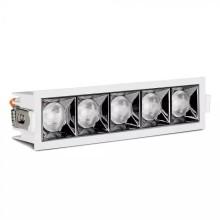 Zapustené hranaté biele LED svietidlo 20W 12° SAMSUNG čipy CRI90