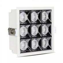 Zapustené hranaté biele LED svietidlo 36W 38° SAMSUNG čipy CRI90