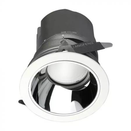 Zapustené okrúhle LED svietidlo 10W 0-27° CRI95